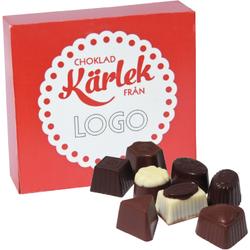 Minipraliner 50g kärlek med logo