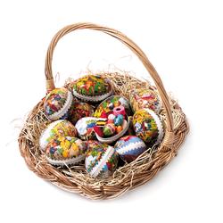 Påskkorg med 15 ägg